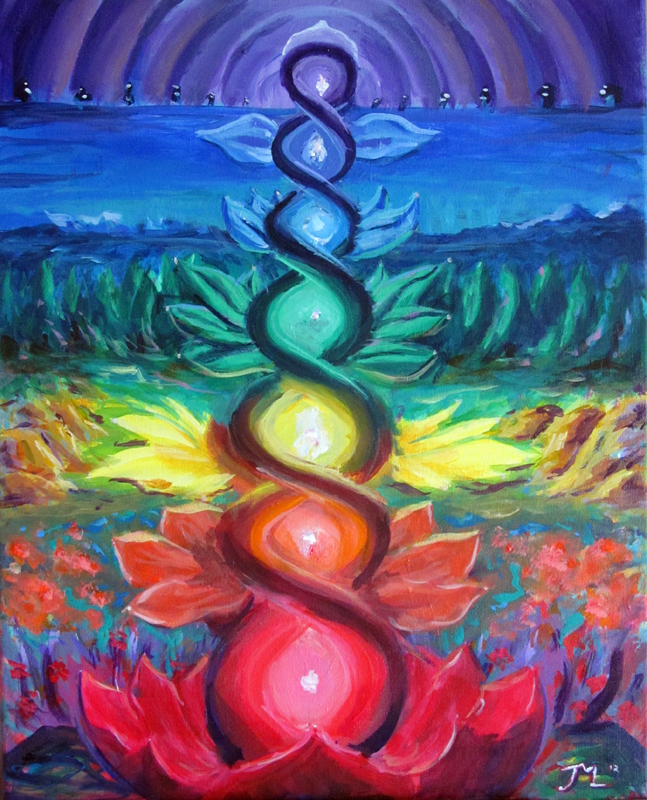 Crystal chakra painting time space the journey for Paintings of crystals